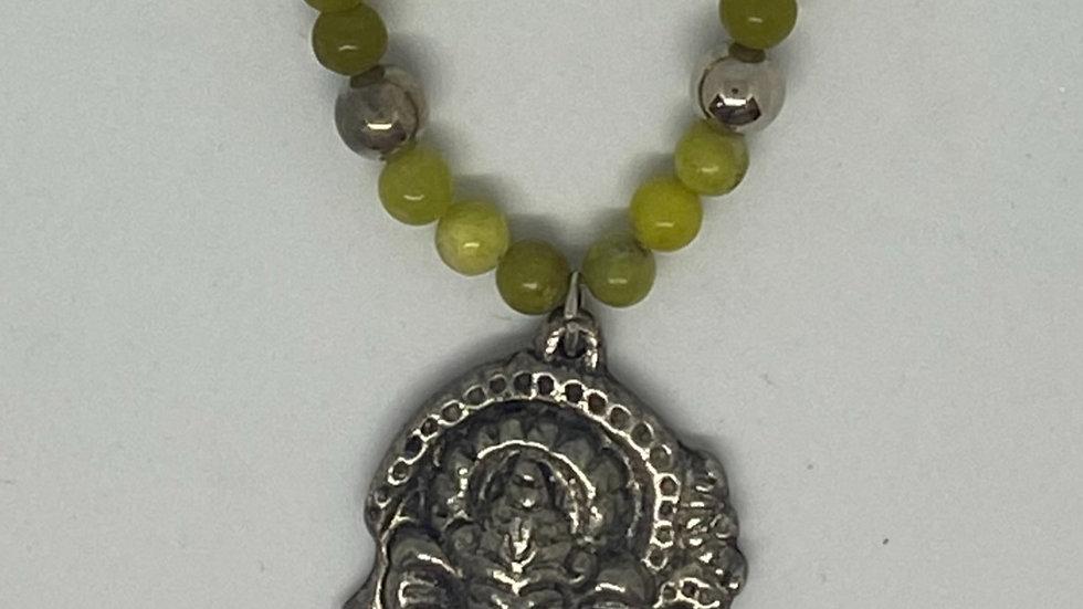 Green Ganesha Necklace