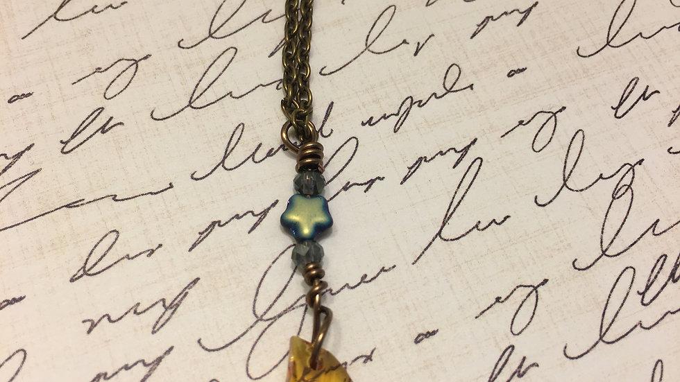 Black Star Half Moon Necklace
