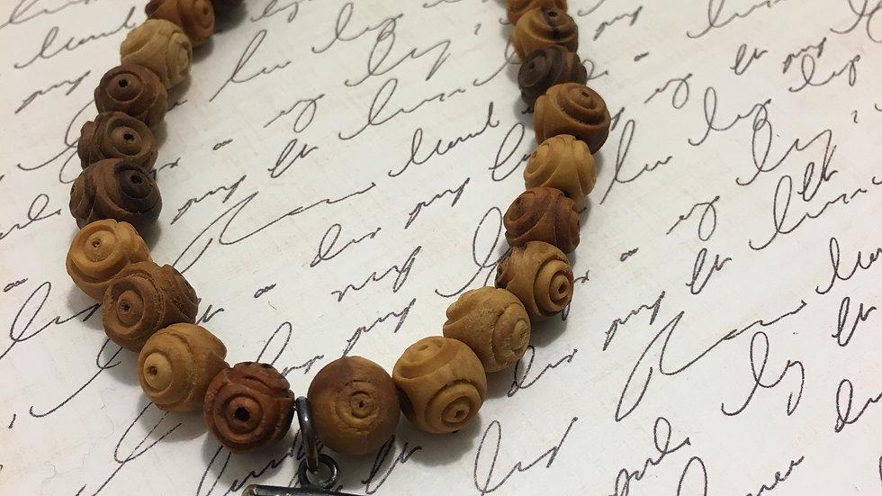 Olive Wood Amulet Necklace