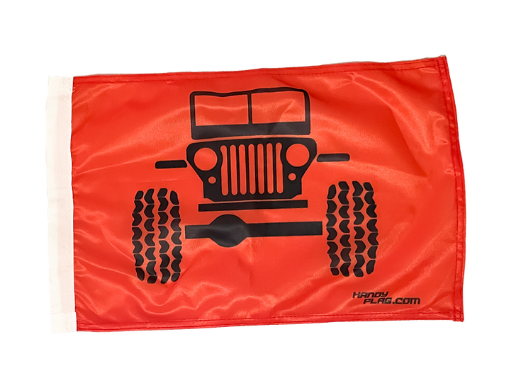 Jeep Front Replacement Flag - Orange