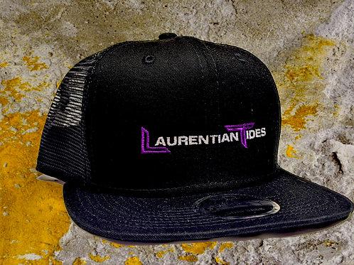 Laurentian Tides Black Trucker Mesh Flat Bill Snapback