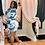 Thumbnail: Tie dye rushed dress