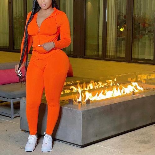 "Track suit ""neon orange"""