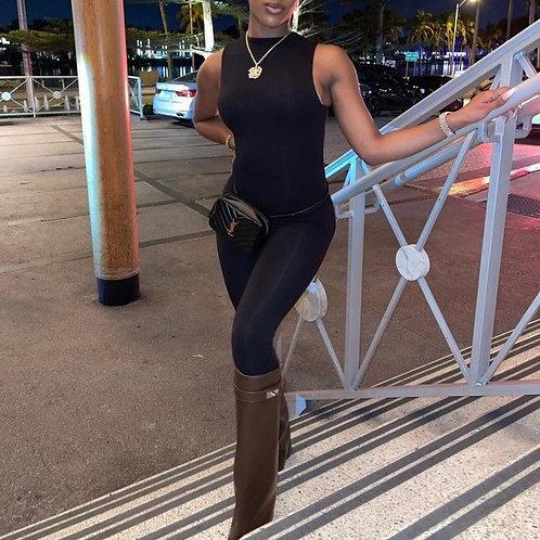 Sleeveless jumpsuit black