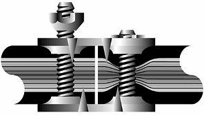 Механические, винтовые, резьбовые соединители, замки  конвейерных, транспортерных лент.