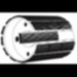 Футеровка приводных барабанов ленточных конвейеров сменными сегментами.