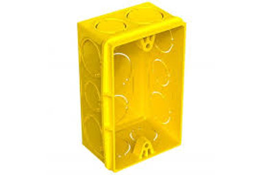 Caixinha de Luz Amarela PVC 4x2 Legrand