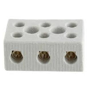 Conector de Porcelana Trifásico  6mm, 10mm ou 16mm