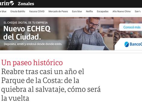 Nota en Suplemento económico del diario Clarín 10/2/21