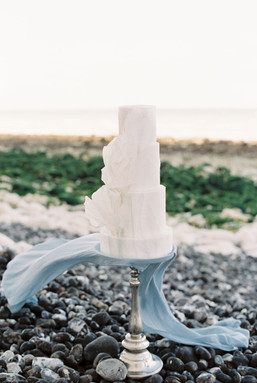 Coastal Ethereal Wedding Cake
