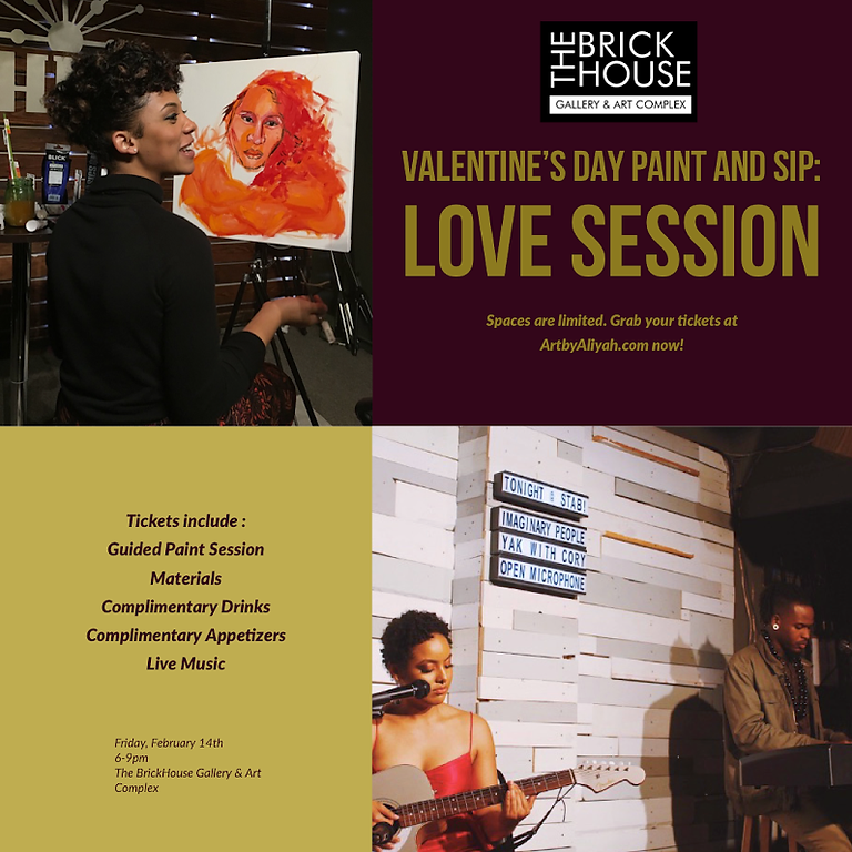 Valentine's Day Paint, Sip and Vibe Session