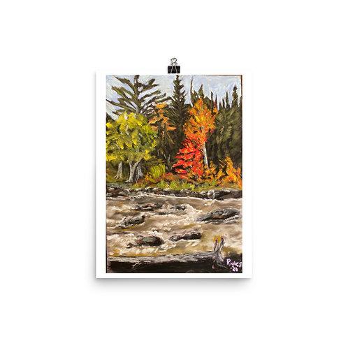 Tea Lake Dam, Algonquin Park, Ontario - Pastel Print