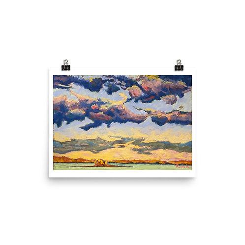 Stoco Lake, Ontario - Pastel Print