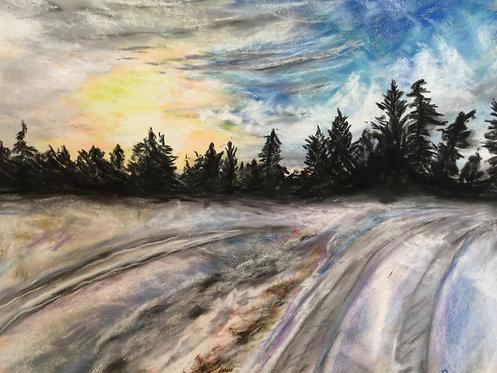 Fairmont Hotsprings, British Columbia - Pastel on Pastel Mat