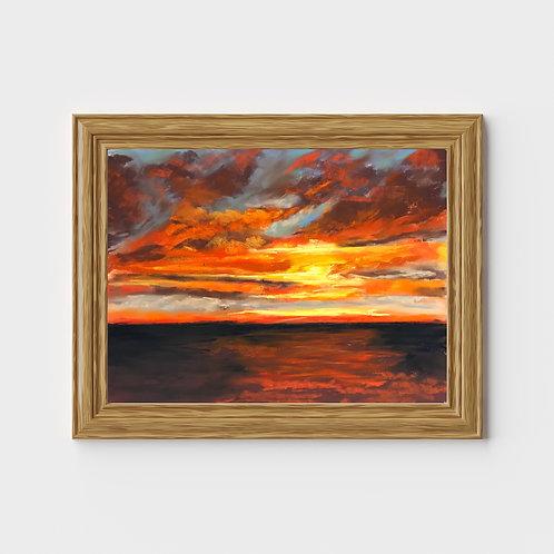 Bayfield Ontario, Sunset - Pastel Print