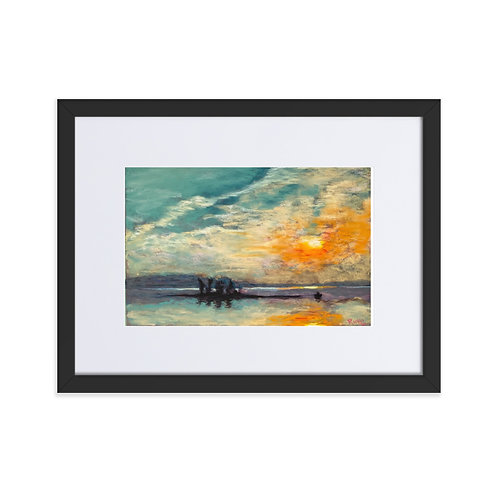 Stoco Lake - Framed Pastel Print With Mat