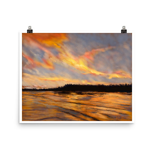 Prince Edward Island Sunset - Digital Painting Print