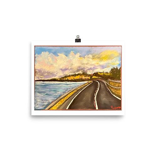 Malta Coastline - St. Julien's - Pastel Print