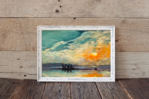 Stoco Lake - Pastel Print