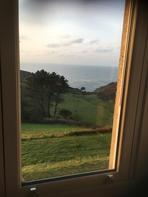 View from window of Battisborough House, South Devon