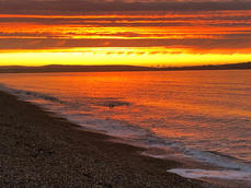 Hordle Cliff Beach at sunset