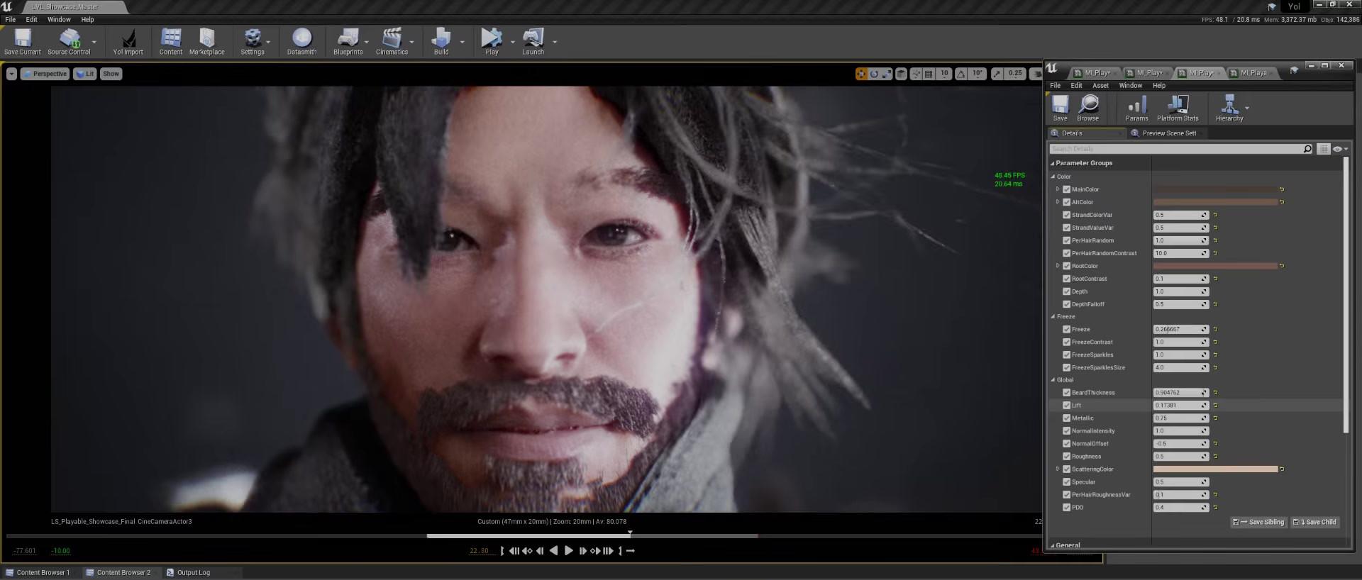 Character shading