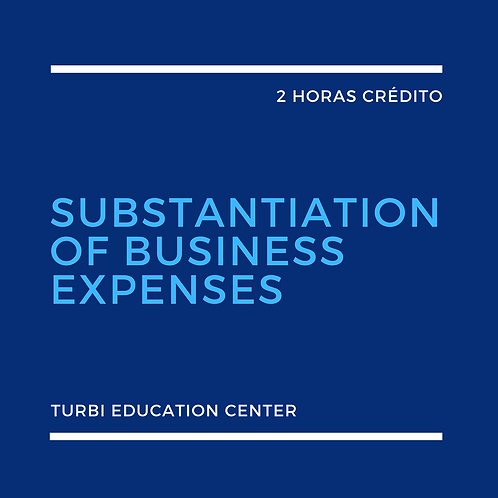 Substantiation Of Business Expenses