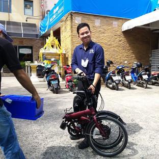 วิธีพับจักรยานพับไฟฟ้า