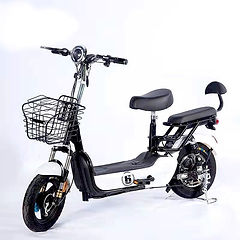 จักรยานไฟฟ้าสีขาว