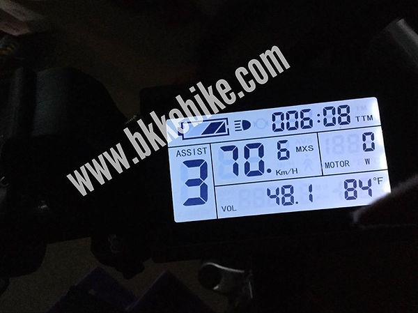 ความเร็วสูงสุด มอเตอร์ไฟฟ้า E-bike