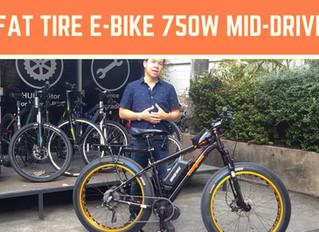 "Fat Bike ล้อโต ติดตั้ง Mid-Drive Motor ของ BaFang สวยงาม 26"" กับ Battery 48V 11Ah"