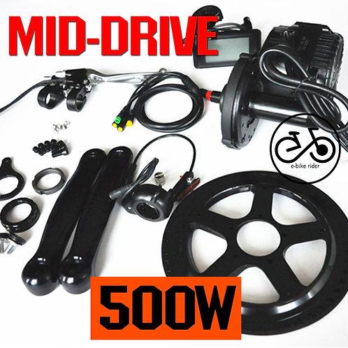 มอเตอร์ขับกลาง 500W - Mid-Drive Motor E-Bike