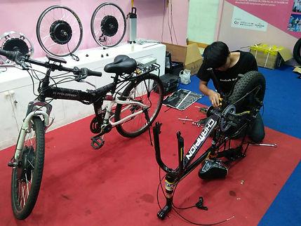 บริการติดตั้งจักรยานไฟฟ้า