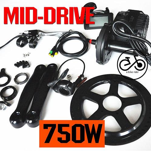 มอเตอร์ขับกลาง 750W - Mid-Drive Motor E-Bike