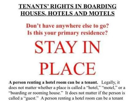 Hotel Tenants & 'Shelter in Place'