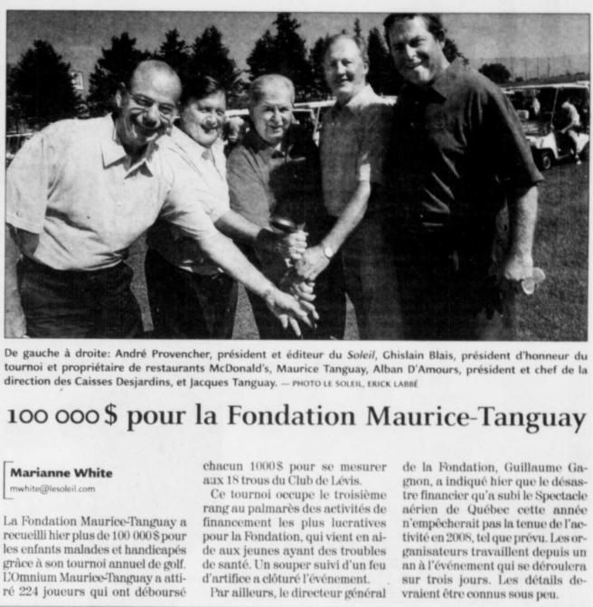 Journal Le Soleil 5 août 2006