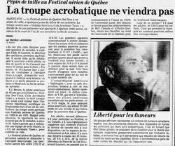 Journal Le Soleil 11 août 1993