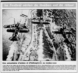 Journal Le Soleil 30 juillet 1988