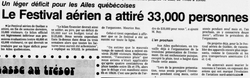 Journal Le Soleil 1 août 1986