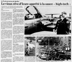 Journal Le Soleil 20 août 1989