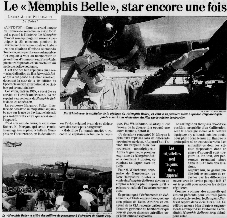 Journal Le Soleil 16 août 1999
