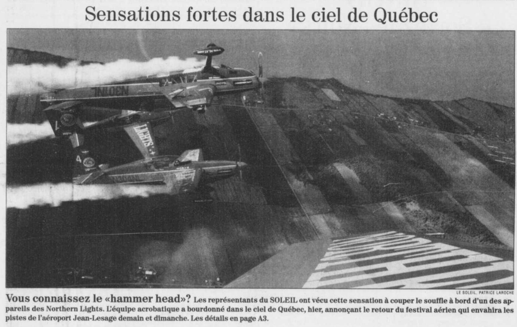 Journal Le Soleil 15 août 1997