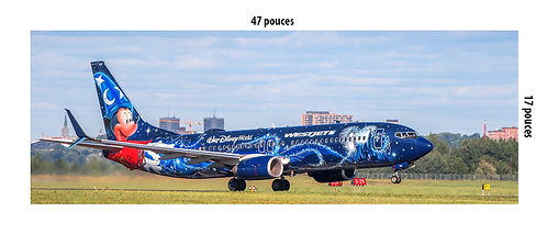 "Méga Poster Boeing 737-800 WestJet ""The magic plane"" à YQB"