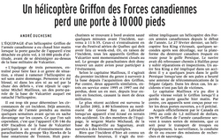 Journal La Presse 29 août 2003