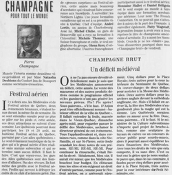 Journal Le Soleil 16 juillet 1995