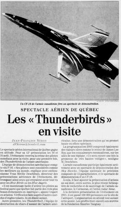 Journal Le Soleil 5 juin 2003