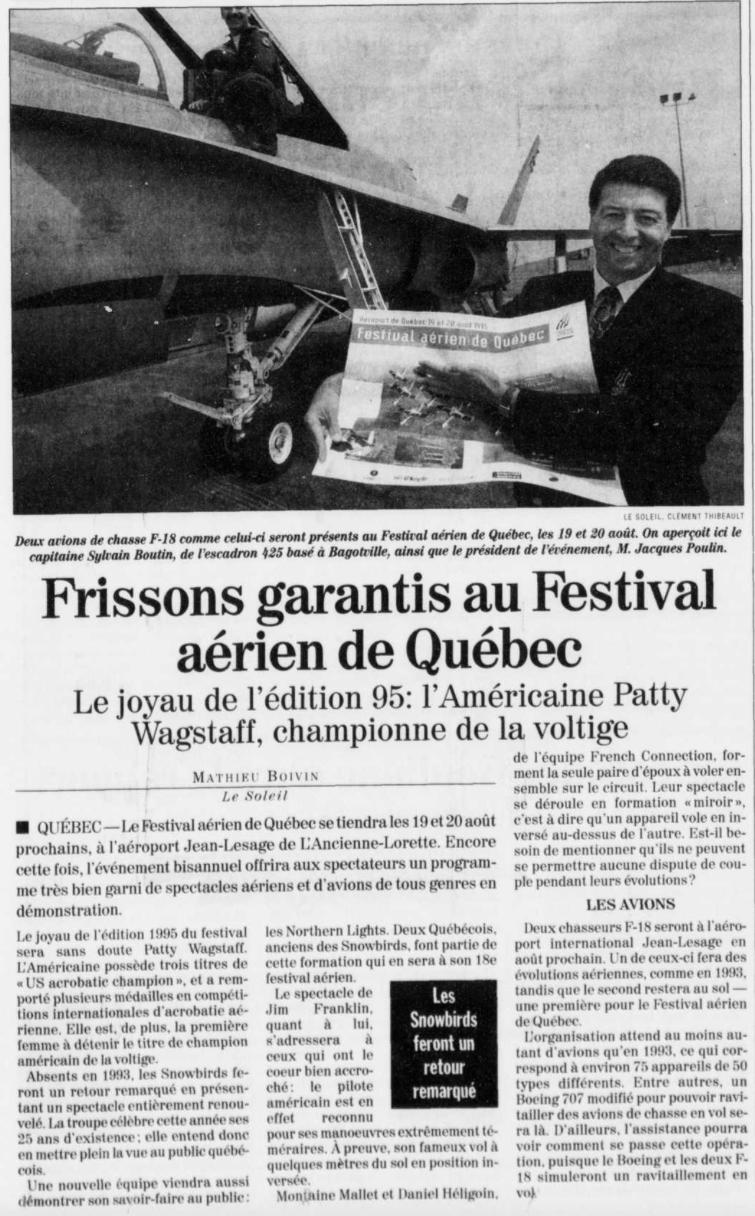 Journal Le Soleil 5 juillet 1995