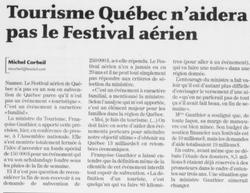 Journal Le Soleil 15 juin 2006