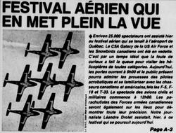 Journal Le Soleil 18 août 1985