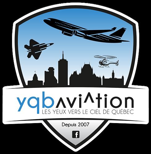 "Autocollant YQB Aviation 4"""